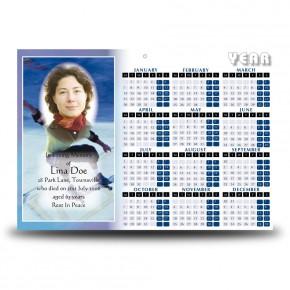 Skating Calendar Single Page