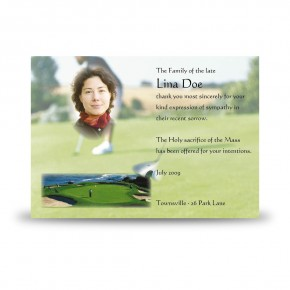 Golf Green Acknowledgement Card