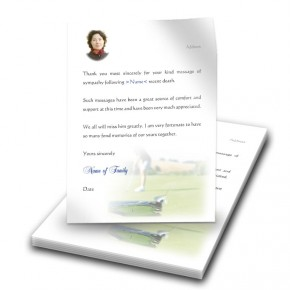 Golf Green Thank You Letter