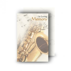 Saxophone Wallet Card
