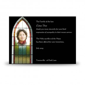 Stained Glass Window Acknowledgement Card