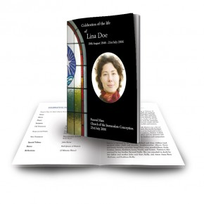 Stained Glass Window Funeral Book