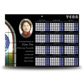 Stained Glass Window Calendar Single Page