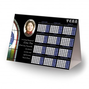 Stained Glass Window Calendar Tent