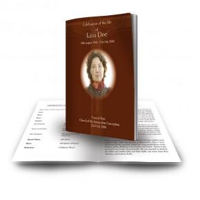 Wooden Cross Funeral Book