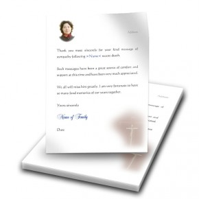 Wooden Cross Thank You Letter
