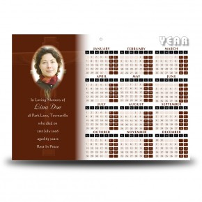Wooden Cross Calendar Single Page