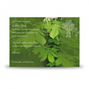 Castle Caldwell Co Fermanagh Acknowledgement Card