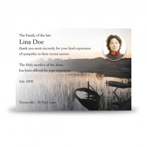 Keenaghan Lough Co Fermanagh Acknowledgement Card