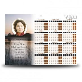 Keenaghan Lough Co Fermanagh Calendar Single Page