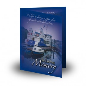 Donegal Bay Folded Memorial Card