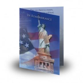 Statue of Liberty Folded Memorial Card