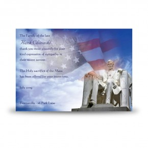 Abraham Lincoln Acknowledgement Card