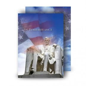 Abraham Lincoln Standard Memorial Card