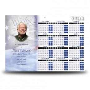Abraham Lincoln Calendar Single Page
