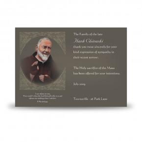 Padre Pio Acknowledgement Card