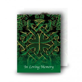 Celtic Tribal Standard Memorial Card