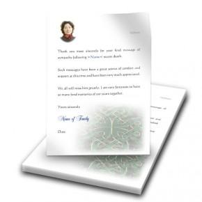 Celtic Tribal Thank You Letter