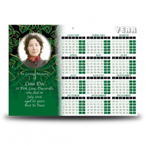Celtic Tribal Calendar Single Page