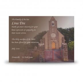 Church Bell Monea Co Fermanagh Acknowledgement Card