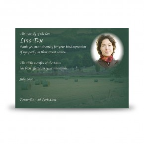 Bailing Acknowledgement Card