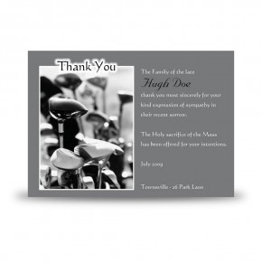 Golf Clubs Acknowledgement Card