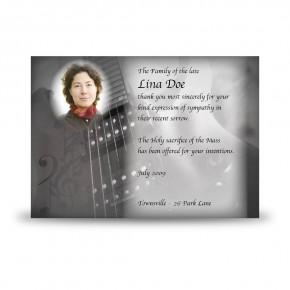 Guitar Acknowledgement Card