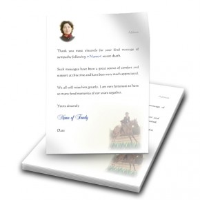 Showjumping Thank You Letter