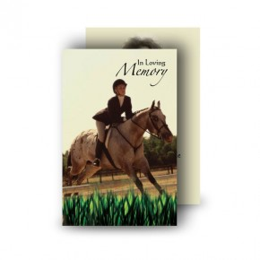 Showjumping Wallet Card