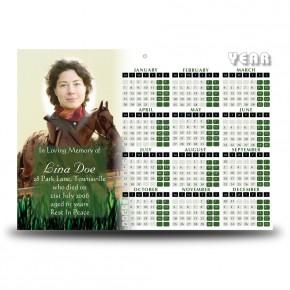 Showjumping Calendar Single Page