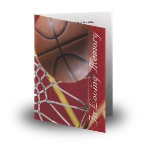 Basketball Folded Memorial Card