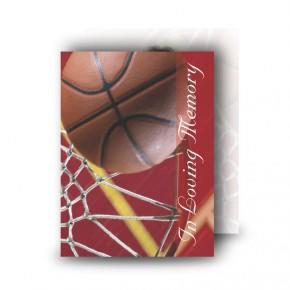 Basketball Standard Memorial Card