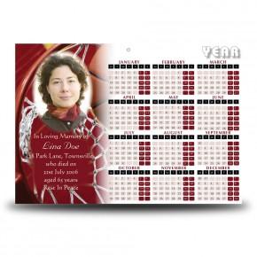 Basketball Calendar Single Page
