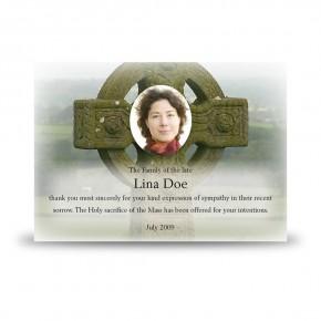 Irish Celtic Acknowledgement Card