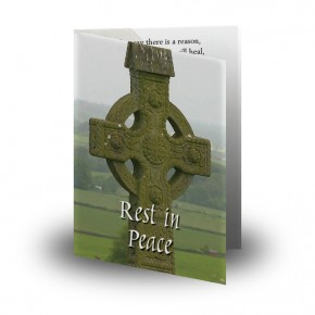 Irish Celtic Folded Memorial Card