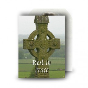 Irish Celtic Standard Memorial Card