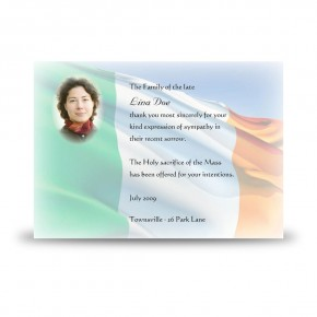 Irish Flag Acknowledgement Card