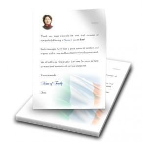 Irish Flag Thank You Letter