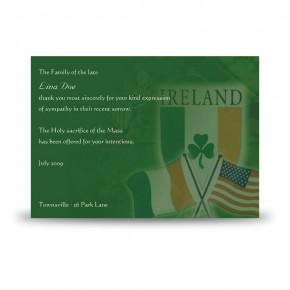 Irish American Acknowledgement Card