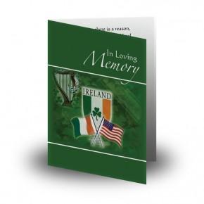 Irish American Folded Memorial Card