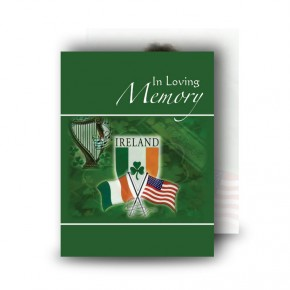 Irish American Standard Memorial Card