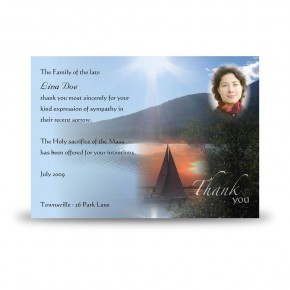 Lake Cruise The Rockies Canada Acknowledgement Card