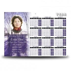 Skiing Sweden Calendar Single Page