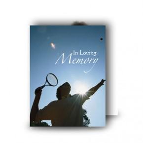 Tennis Standard Memorial Card