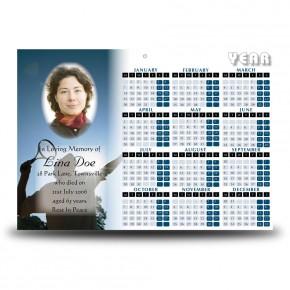 Tennis Calendar Single Page