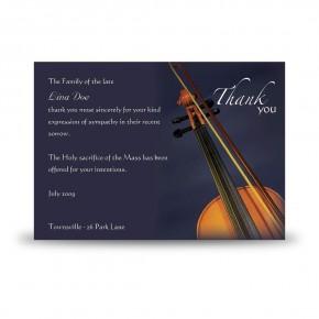 Violin Acknowledgement Card