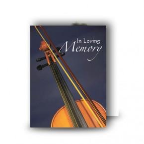 Violin Standard Memorial Card