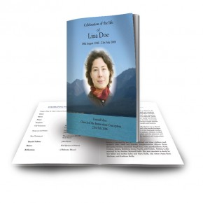 Scenic Mountains The Rockies Canada Funeral Book