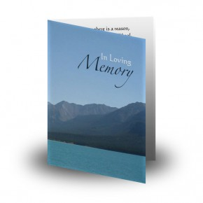 Scenic Mountains The Rockies Canada Folded Memorial Card