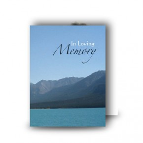 Scenic Mountains The Rockies Canada Standard Memorial Card